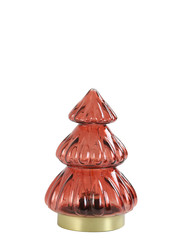 Light & Living Tafellamp LED Ø12x18 cm TREE glas  bordeaux