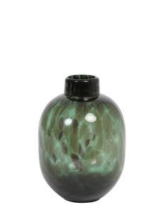 Light & Living Vaas DAKAR glas donker groen-zwart