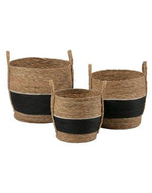 Set van manden Alexa naturel / zwart