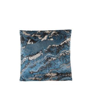 Light & Living Kussen 45x45 cm MARBLE donker blauw