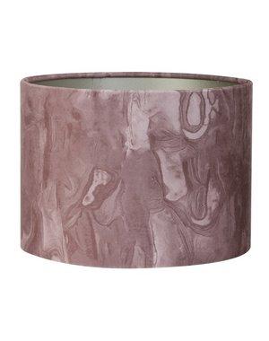 Light & Living Lampenkap cilinder MARBLE roze Ø 30 cm