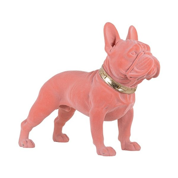 Richmond Interiors  Decoratief beeld Dog Spike roze