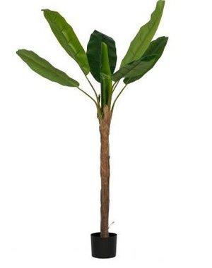 Bananenplant kunstplant groen 180cm (1 stam)