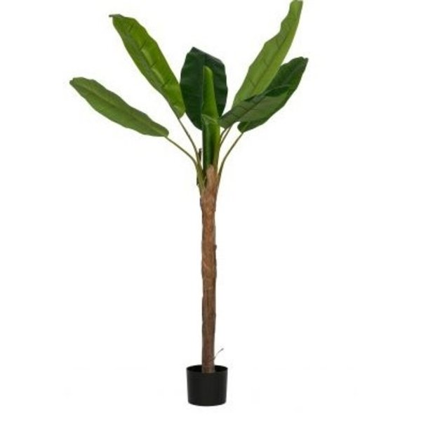 Woood Bananenplant kunstplant groen 180cm (1 stam)