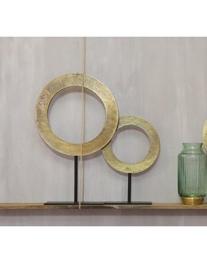 Light & Living Ornament op voet Ø25x38 cm WAIWO ruw antiek brons-mat zwart