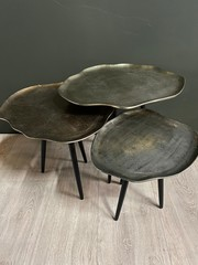 PTMD Zena aluminium salontafel - set van 3