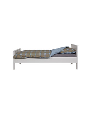 Woood Jade Bed Wit Ongeborsteld [fsc]
