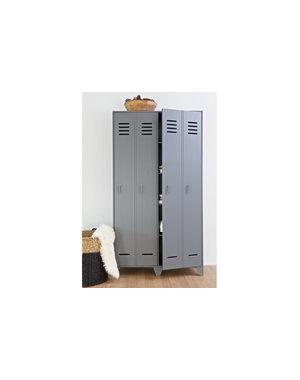 Woood Stijn Hoog 2drs Lockerkast Steel Grey [fsc]