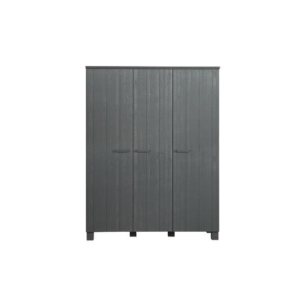 Woood Dennis 3-deurs Kast Grenen Steel Grey Geborsteld [fsc]