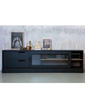 Woood James Tv-meubel Noten/zwart [fsc]