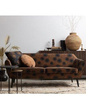 Woood Rocco Bloom Sofa 187 Cm Fluweel Honing Geel