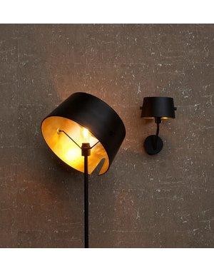 Woood Pien Staande Lamp Metaal Zwart