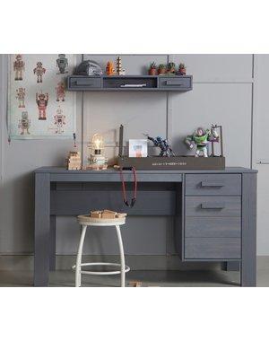 Woood Dennis Bureau Grenen Steel Grey Geborsteld [fsc]