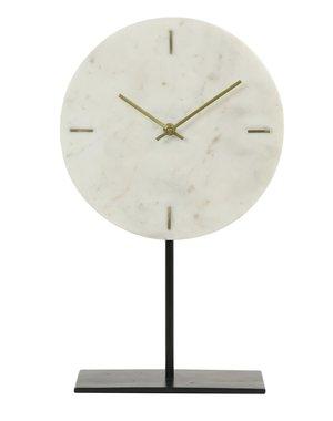 Light & Living Klok op voet Ø26x42 cm MORENO  marmer wit