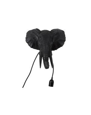 Countryfield Wandlamp olifant E27 Orwell zwart