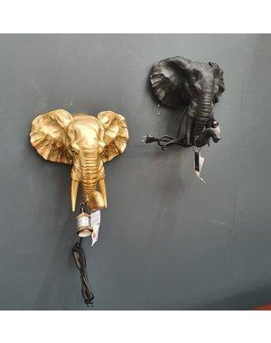 Countryfield Wandlamp olifant E27 Orwell goud