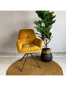 Tower Living Eetkamerstoel Palma - groen, grijs en geel