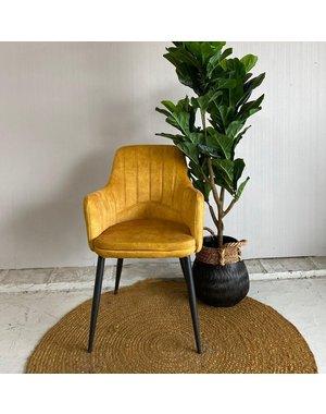 Maxfurn Eettafelstoel Vital okergeel - laatste stoel met extra hoge korting