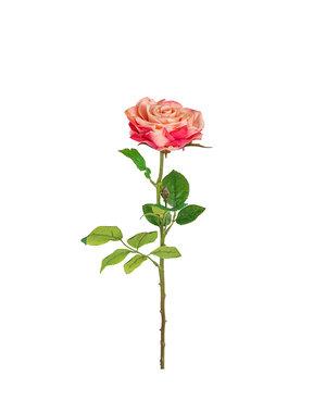 Richmond Interiors  Kunstbloem Rose Rosee-white