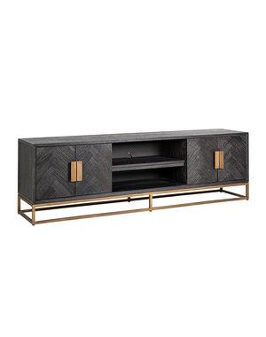 Richmond Interiors  TV-dressoir Blackbone brass 4-deuren 200 (Brushed Gold)