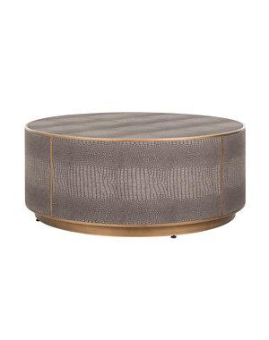 Richmond Interiors  Salontafel Classio Ø 100 Vegan Leather (Brushed Gold)