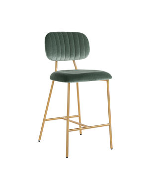 Richmond Interiors  Counterstoel Xenia Jade Velvet / Brushed Gold (Genova 504 Jade)