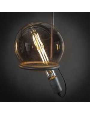 Lichtbron LED filament bol Ø20 amber
