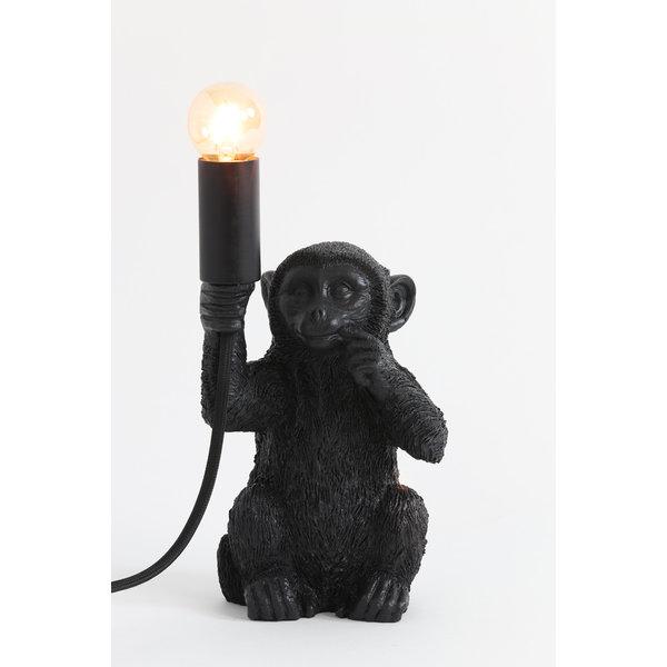 Light & Living Tafellamp aap zwart - diverse maten