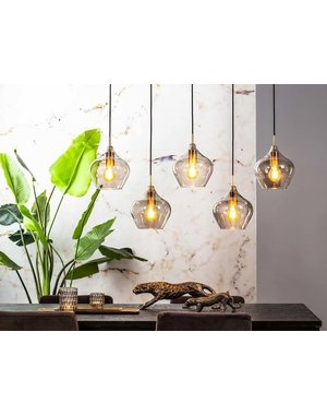 Light & Living Hanglamp Rakel 5L glas
