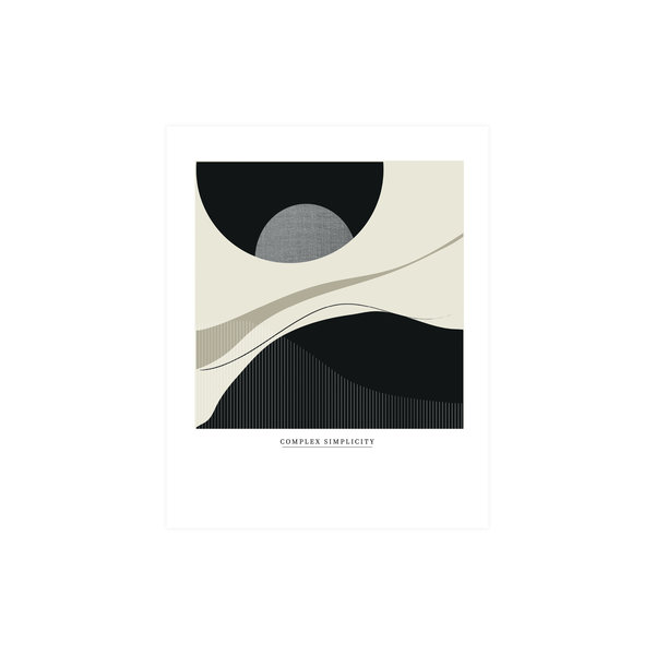 Woood Complex Simplicity Poster 40x50cm