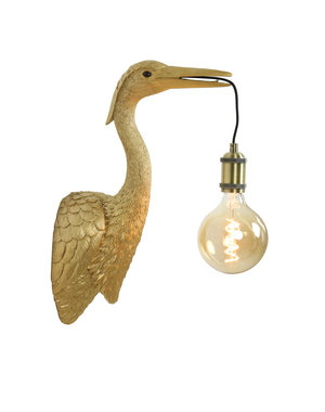 Light & Living Wandlamp Kraanvogel goud  of zwart