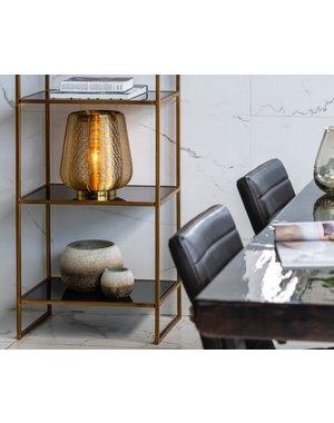 Light & Living Tafellamp ADETA 2  maten in mat zwarten goud