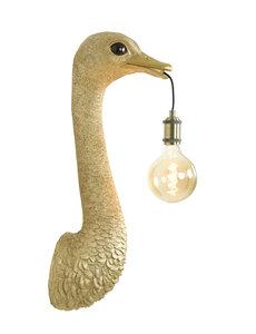 Light & Living Wandlamp Struisvogel goud of zwart - 2 maten