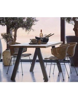 Woood Tablo Outdoor Eettafel Naturel Met A-poot Metaal [fsc]