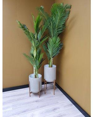 Woood Juul Plantenpot Metaal Betongrijs