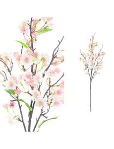 PTMD Blossom Flower crème roze kersenbloesem tak