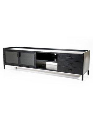 Eleonora TV meubel industrieel 2 deurs en 3 laden