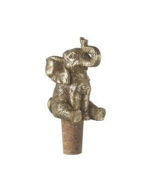 Parlane Flessensluiter 5x4x10 cm ELEPHANT goud