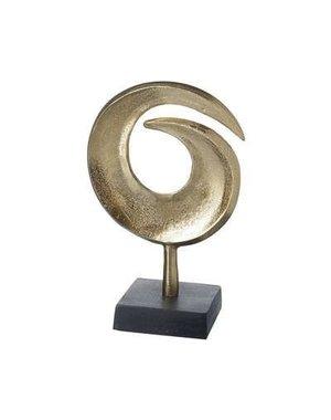 Parlane Ornament op voet Whirl Aluminium goud