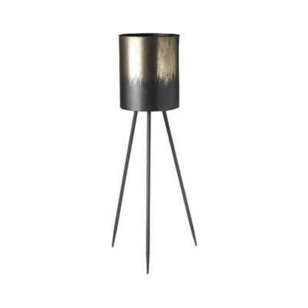 Parlane Bloempot JAX zilver/zwart metaal