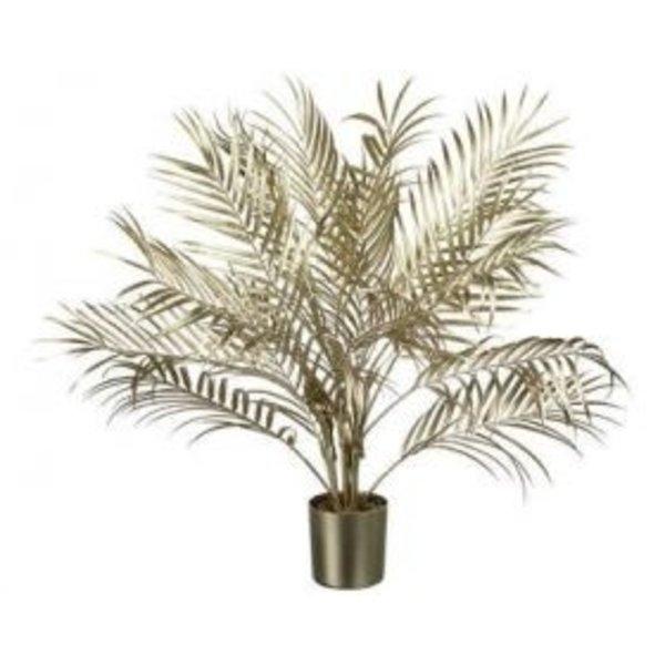 Parlane Palm kunstplant in pot champagne goud - 3 maten