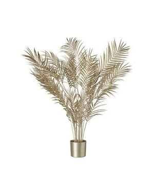 Parlane Palm kunstplant in pot champagne goud - 3 maten