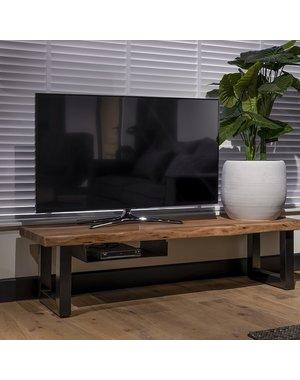 UrbanSofa TV meubel Live edge Acacia 5 cm massief 130, 160 of 190 cm