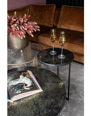 PTMD Salontafel Logan Grey glass met stalen onderstel - 2 maten