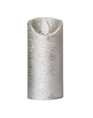PTMD LED licht kaars metallic taupe met beweegbare vlam XS