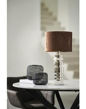 Light & Living Lampvoet Ø10x36 cm TUNDA marmer  wit+nikkel