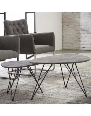 Salontafel Nier 90x60 betonlook