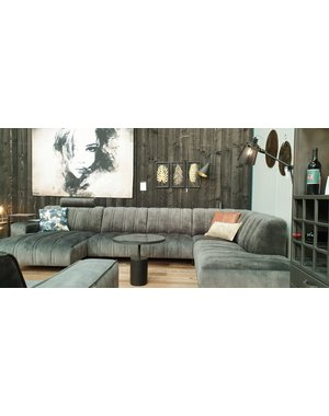 Maxfurn Bank Roxette Chaise longue links en ottomane rechts * Showroommodel met extra korting