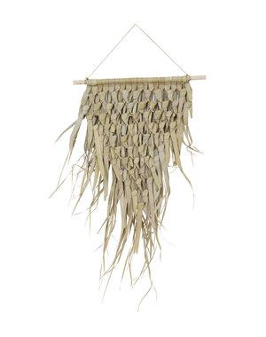 Light & Living Wandornament 45x55 cm KATIOLA palm blad ruit