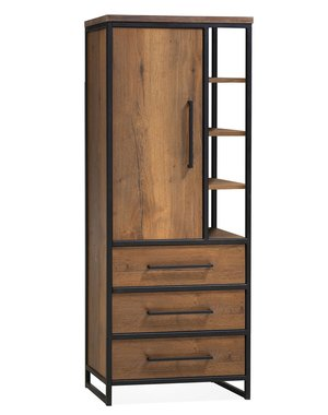 Maxfurn Opbergkast Lamulux Oriental 1 deur en 3 lades